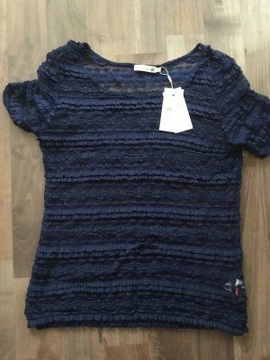 Jackpot Maglietta a righe blu Tessuto misto