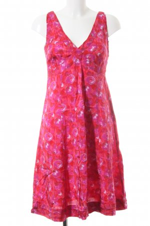 Jackpot Trägerkleid rot-pink Allover-Druck Casual-Look