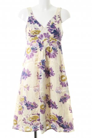 Jackpot Trägerkleid wollweiß-lila Blumenmuster Casual-Look