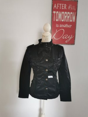 Jacky-O Military Jacket black cotton
