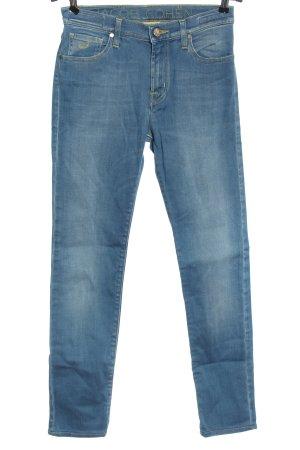 Jacob Cohen Stretch Jeans blau Schriftzug gestickt Casual-Look