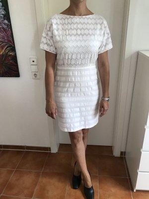 Jacquard Kleid  in Traumweiss