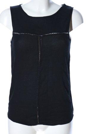 Jacqueline de Yong ärmellose Bluse schwarz Casual-Look