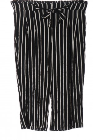 Jacqueline de Yong Baggy Pants schwarz-weiß Streifenmuster Casual-Look
