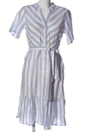 Jacqueline de Yong Blusenkleid blau-weiß Streifenmuster Casual-Look
