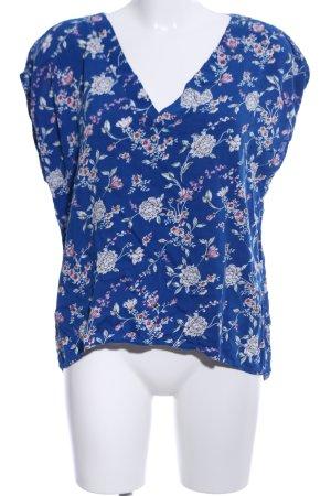 Jacqueline de Yong Blusa blu-bianco sporco motivo floreale stile casual