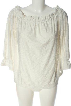 Jacqueline de Yong Bluzka typu carmen biały W stylu casual