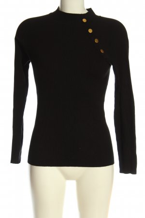 Jacqueline de Yong Feinstrickpullover schwarz Casual-Look