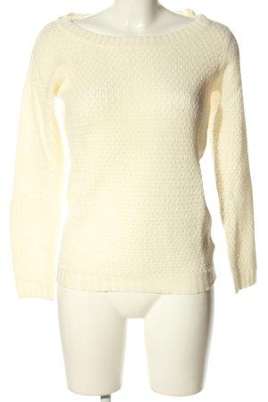 Jacqueline de Yong Szydełkowany sweter kremowy W stylu casual