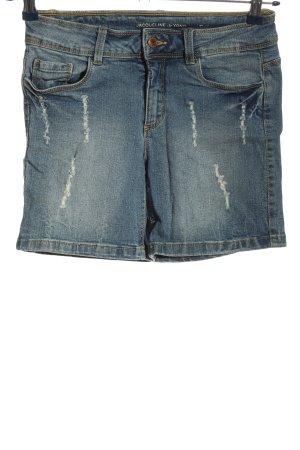 Jacqueline de Yong Hot Pants blau Casual-Look