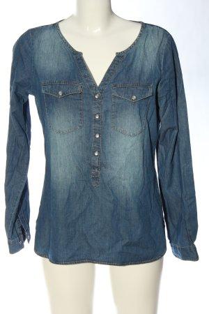 Jacqueline de Yong Blusa denim blu stile casual