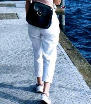 Jacqueline de Yong Jeans a vita alta bianco