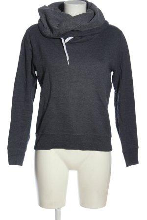 Jacqueline de Yong Hooded Sweatshirt light grey flecked casual look