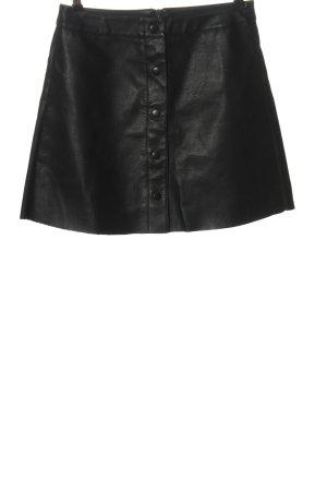 Jacqueline de Yong Gonna in ecopelle nero stile casual