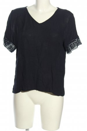 Jacqueline de Yong Kurzarm-Bluse schwarz Casual-Look