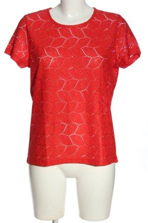 Jacqueline de Yong Kurzarm-Bluse rot Casual-Look