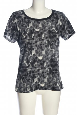 Jacqueline de Yong Kurzarm-Bluse schwarz-wollweiß Farbverlauf Casual-Look