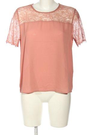 Jacqueline de Yong Kurzarm-Bluse pink klassischer Stil