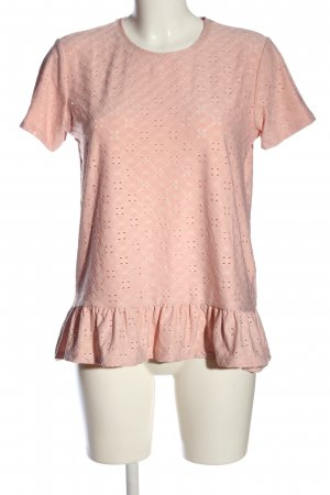 Jacqueline de Yong Kurzarm-Bluse pink Allover-Druck Casual-Look