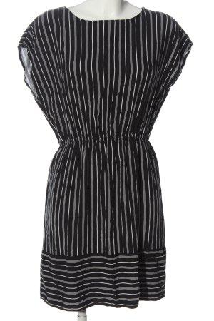 Jacqueline de Yong Kurzarmkleid schwarz-weiß Streifenmuster Casual-Look
