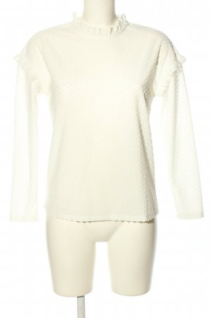Jacqueline de Yong Langarm-Bluse weiß Casual-Look
