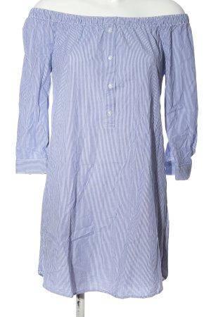 Jacqueline de Yong Langarmkleid weiß-blau Streifenmuster Casual-Look