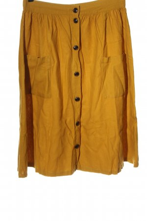 Jacqueline de Yong Linen Skirt light orange casual look