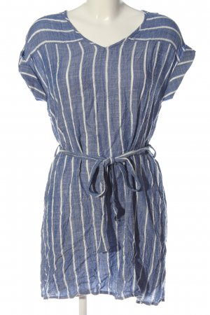 Jacqueline de Yong Camicetta lunga blu-bianco motivo a righe stile casual