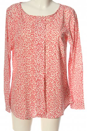 Jacqueline de Yong Long-Bluse wollweiß-rot Allover-Druck Casual-Look