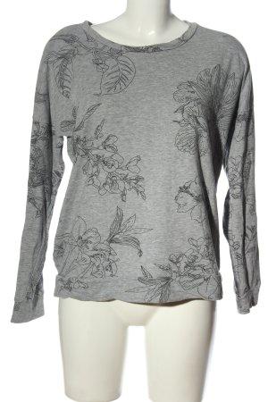 Jacqueline de Yong Manica lunga grigio chiaro-nero stampa integrale elegante