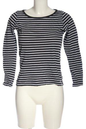Jacqueline de Yong Manica lunga nero-bianco motivo a righe stile casual
