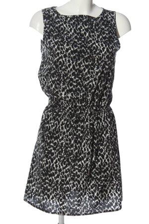 Jacqueline de Yong Minikleid schwarz-wollweiß Allover-Druck Casual-Look