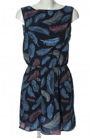 Jacqueline de Yong Minikleid blau-hellgrau abstraktes Muster Casual-Look