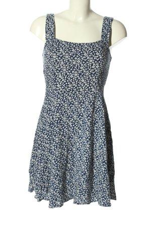 Jacqueline de Yong Minikleid blau-weiß Allover-Druck Casual-Look