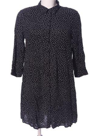 Jacqueline de Yong Oversized Bluse schwarz-weiß Allover-Druck Business-Look