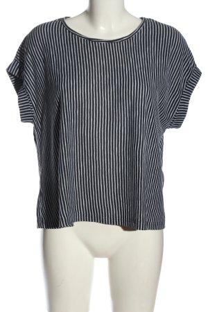 Jacqueline de Yong Camisa de rayas blanco-negro estampado a rayas look casual