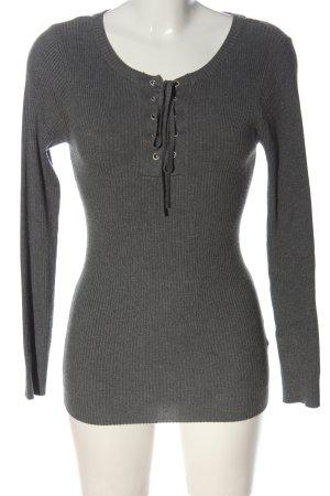 Jacqueline de Yong Maglione girocollo grigio chiaro stile casual