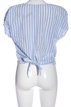 Jacqueline de Yong Schlupf-Bluse blau-weiß Streifenmuster Casual-Look