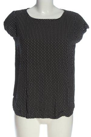 Jacqueline de Yong Schlupf-Bluse schwarz-weiß Punktemuster Casual-Look