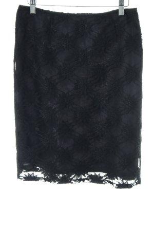 Jacqueline de Yong Spitzenrock schwarz Casual-Look