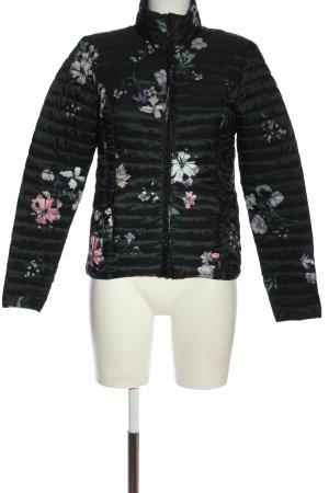 Jacqueline de Yong Giubbotto trapuntato nero motivo floreale stile casual