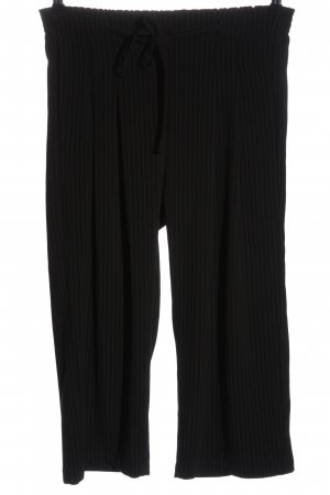 Jacqueline de Yong Stoffhose schwarz-khaki Streifenmuster Casual-Look