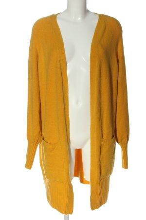 Jacqueline de Yong Cardigan in maglia giallo pallido stile casual