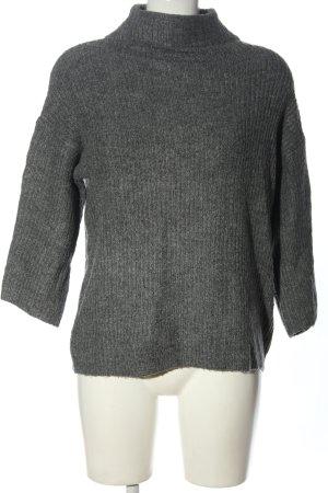 Jacqueline de Yong Maglione lavorato a maglia grigio chiaro puntinato