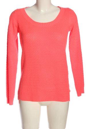 Jacqueline de Yong Maglione lavorato a maglia rosso stile casual
