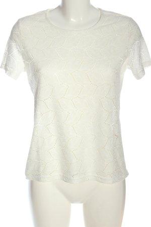 Jacqueline de Yong Camisa tejida blanco look casual