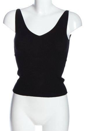 Jacqueline de Yong Top lavorato a maglia nero stile casual