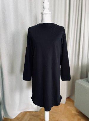 Jacqueline de Yong Vestido de tela de sudadera negro Algodón