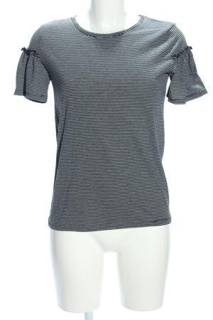 Jacqueline de Yong T-Shirt schwarz-weiß Streifenmuster Casual-Look