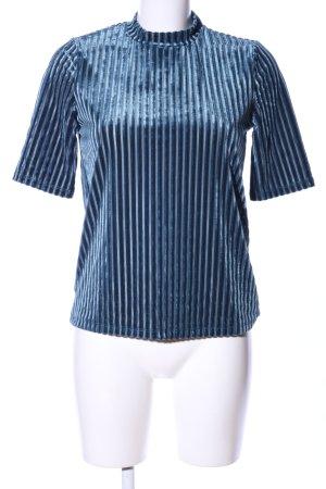 Jacqueline de Yong T-Shirt blau Streifenmuster Casual-Look
